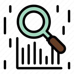 analysis, report, research, search, statistics, zoom icon