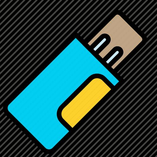 cable, data, drive, flash, storage, usb icon