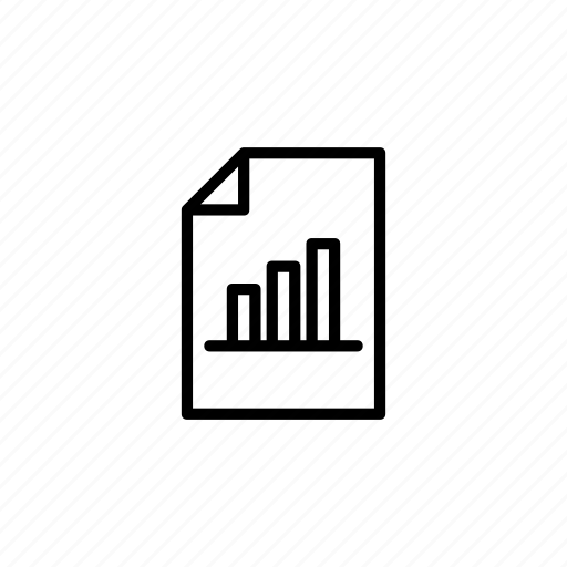 bar, chart, document icon