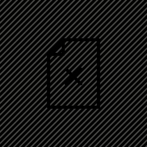delete, file, minus, remove icon