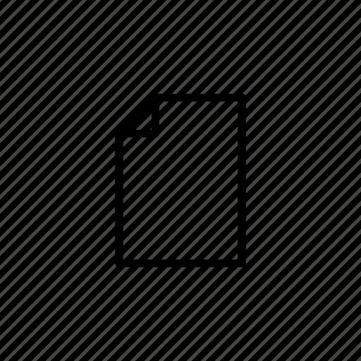 blank, document, file, ui icon