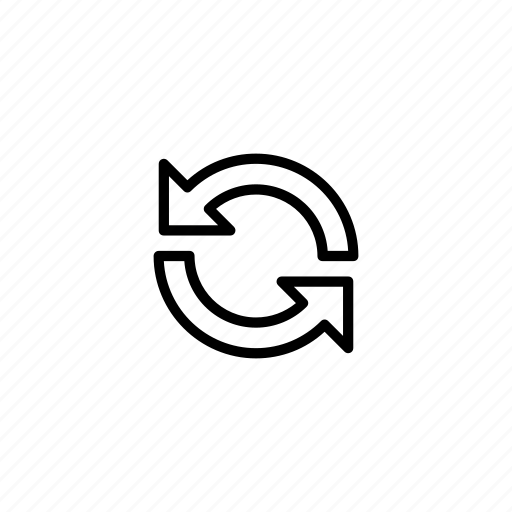 refresh, reload, repeat, resend icon