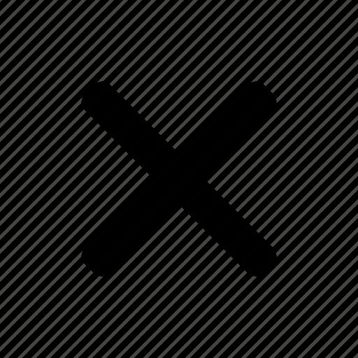 cancel, cross, delete, remove icon