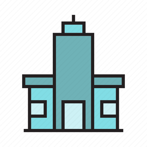 building, construction, edifice, office, residence, tower icon