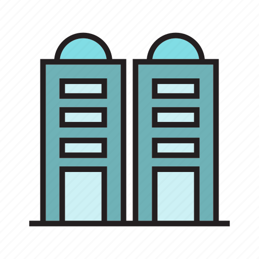 apartment, building, hostel, office, real estate, residence, tower icon