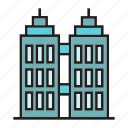 apartment, construction, hostel, office, real estate, residence, tower icon