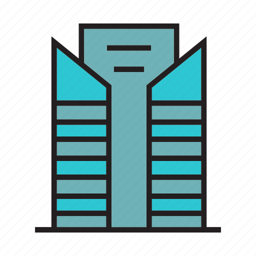 apartment, construction, edifice, hostel, office, residence, tower icon