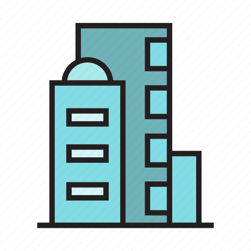 building, city, downtown, hostel, real estate, residence, tower icon