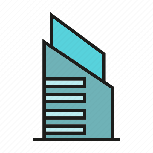 city, downtown, hostel, office, real estate, residence, tower icon