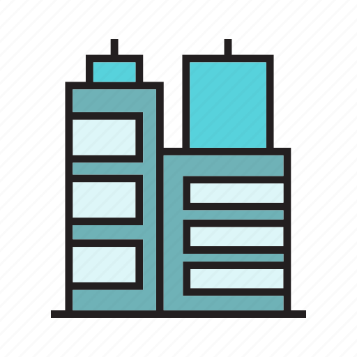apartment, building, downtown, hostel, office, real estate, residence icon