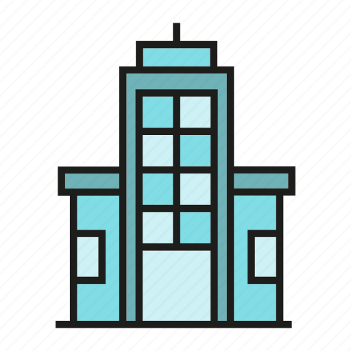 apartment, city, downtown, office, real estate, residence, tower icon
