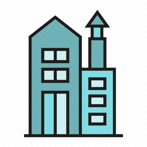 apartment, building, city, home, house, residence, tower icon