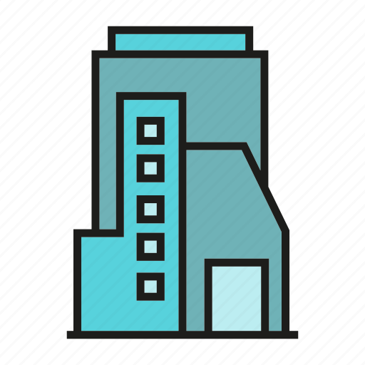 apartment, city, downtown, loft, office, residence, tower icon
