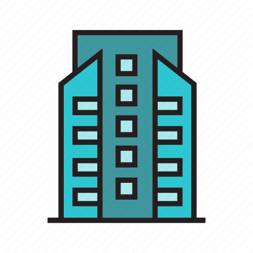 apartment, building, city, construction, downtown, residence, tower icon