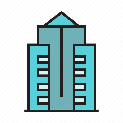 apartment, city, downtown, hostel, real estate, residence, tower icon