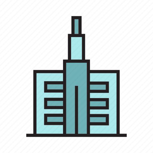 apartment, building, city, downtown, office, residence, tower icon