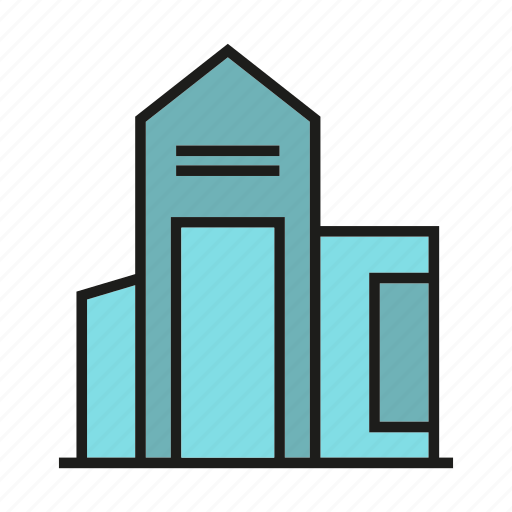 city, home, hostel, house, office, residence, tower icon