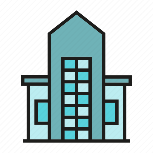 building, city, downtown, home, house, real estate, residence icon