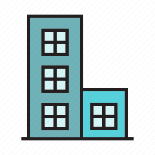 building, construction, edifice, hostel, office, residence, tower icon