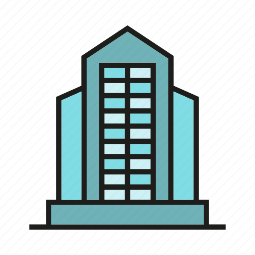 apartment, building, construction, edifice, office, residence, tower icon