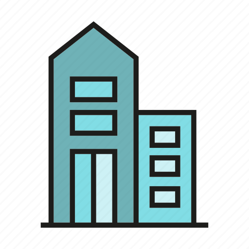 apartment, building, home, house, office, residence, tower icon