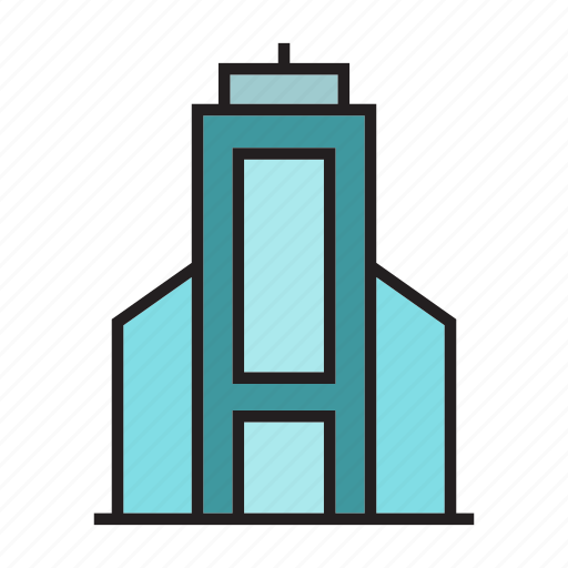 apartment, home, hostel, house, office, residence, tower icon