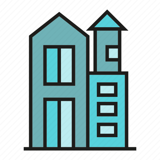 apartment, city, home, house, office, residence, tower icon