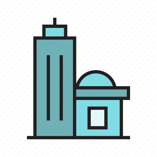 building, home, hostel, house, office, residence, tower icon