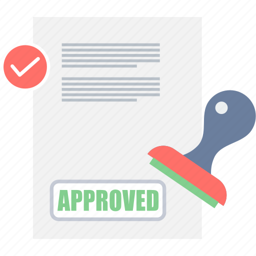 achievement, agreement, approved, business, stamp, stamping, success icon