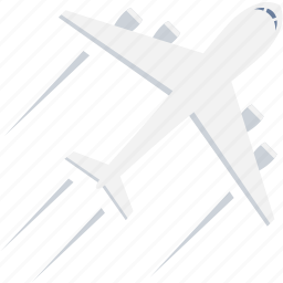 airplane, aviation, business, flight, plane, travel, trip icon