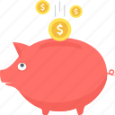 budget, fund, funding, investment, money, piggy bank, savings icon