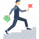 business, business growth, business success, growth, ladder, progress, speed icon