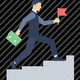 business, business growth, business success, growth, ladder, progress, speed icon