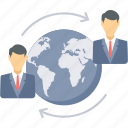 business, distance, international, international client, office, overseas, support icon