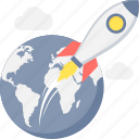 business, launch, project launch, rocket, spaceship, speed, startup icon
