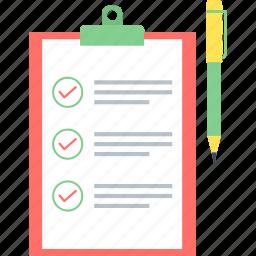 business, checklist, clipboard, list, points, tick, tickmark icon