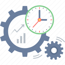 business, plan, planning, process, schedule, timer icon
