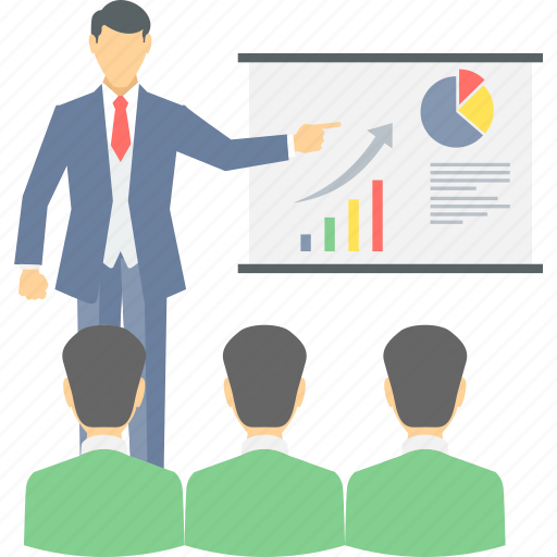 board, business, business plan, chart, graph, meeting, presentation icon