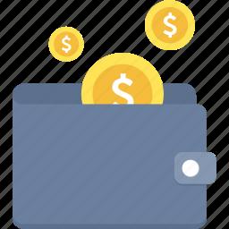 cash, dollar, finance, money, profit, save, wallet icon