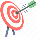 aim, bullseye, center, dart, goal, shooting, target icon