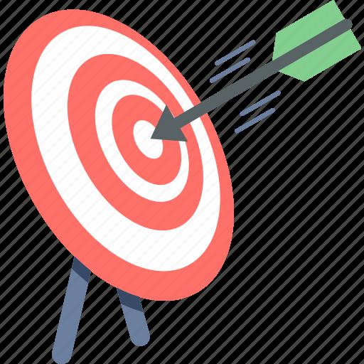 aim, bullseye, center, dart, goal, shooting, target icon
