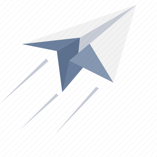 airplane, deliver, email, mail, paper plane, post, send icon