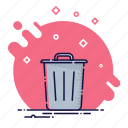 basket, business, delete, garbage, office, remove, trash icon