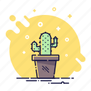 business, cactus, decoration, flower, office, plant icon