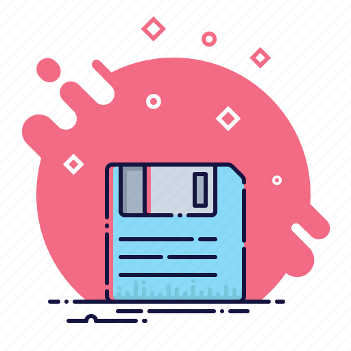 business, data, diskette, document, file, format, office icon