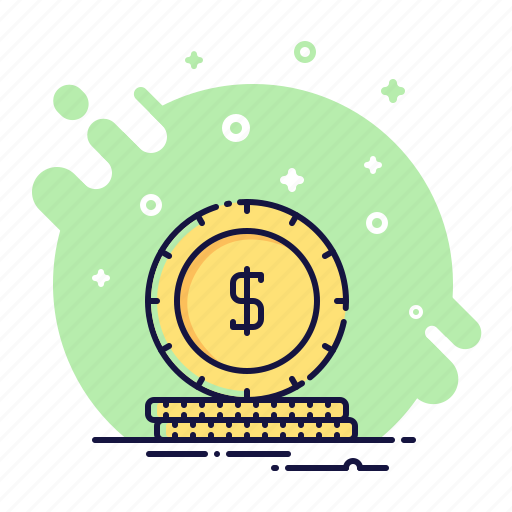 business, cash, cent, coin, money, payment, piece icon