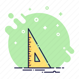 angle, business, measurement, office, rule, ruler, straightedge icon