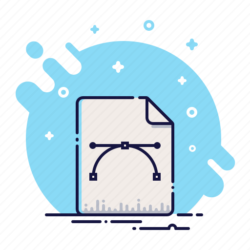 business, curves, data, document, file, format, office icon
