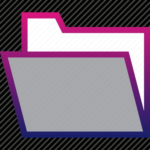 business, folder, minimalist, office, professional icon