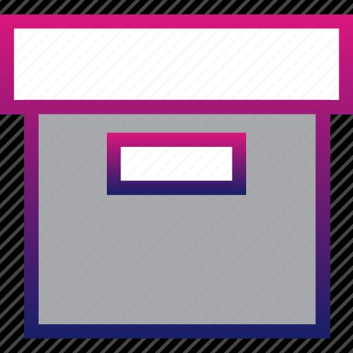box, business, minimalist, office, office box, professional icon